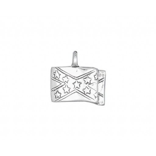 Sterling Silver Dixie Flag Charm