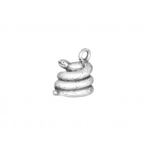 Sterling Silver Snake Charm