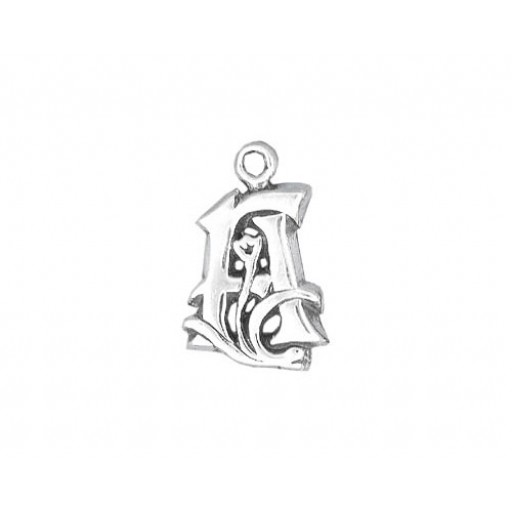 Sterling Silver Charm - A
