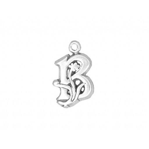 Sterling Silver Charm - B
