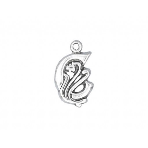 Sterling Silver Charm - C