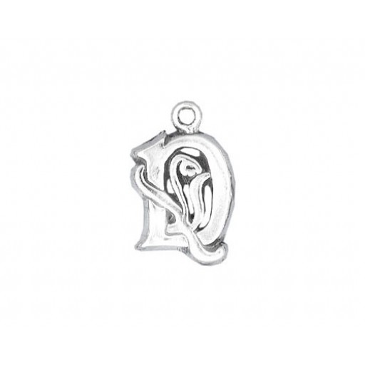 Sterling Silver Charm - D