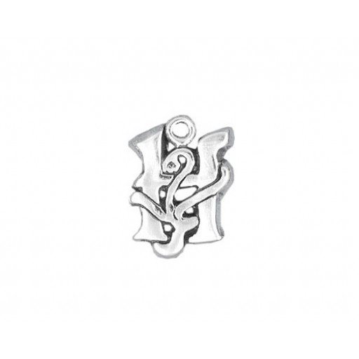 Sterling Silver Charm - H