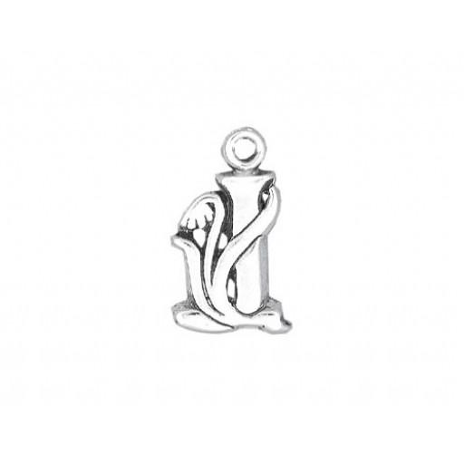 Sterling Silver Charm - J