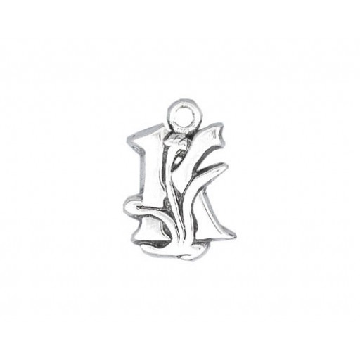 Sterling Silver Charm - K