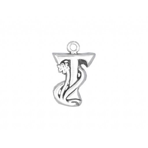 Sterling Silver Charm - T