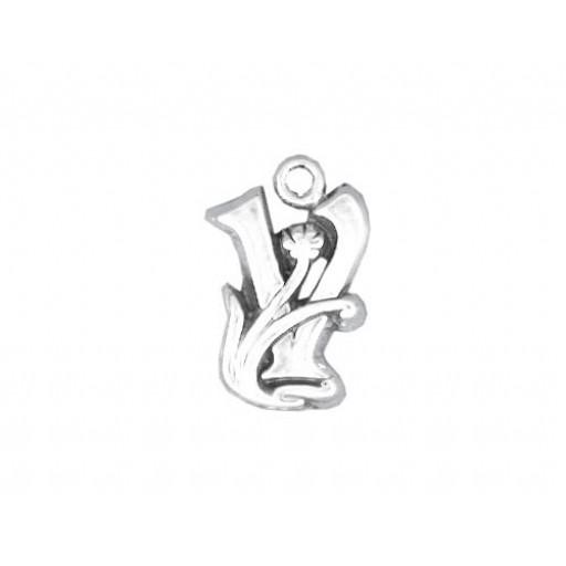 Sterling Silver Charm - V