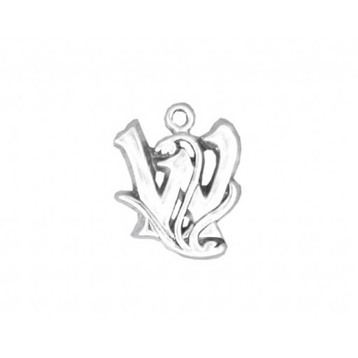 Sterling Silver Charm - W
