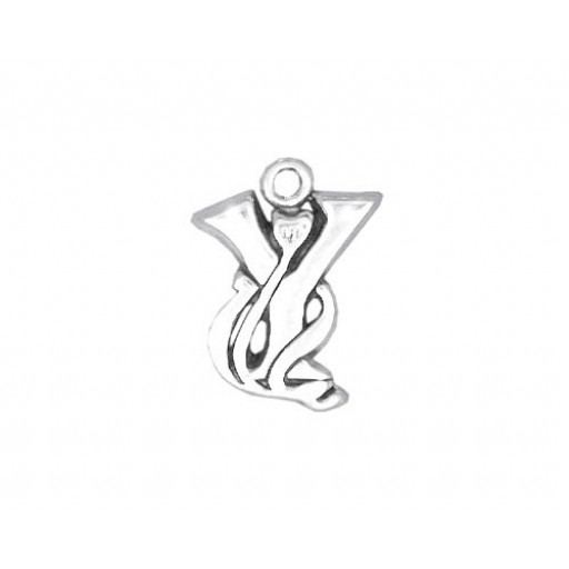 Sterling Silver Charm - Y