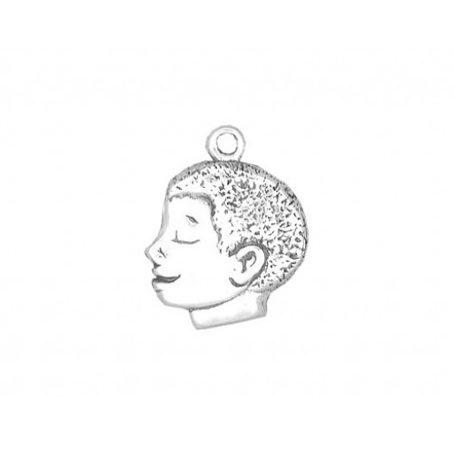 Sterling Silver African American Boy Charm