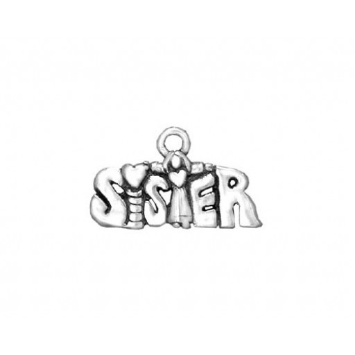 Sterling Silver Sister Charm