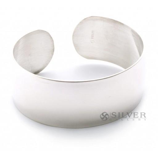 """Sterling Silver Cuff Bracelet - 7/8"""" Wide"""