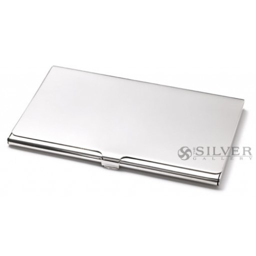 Sterling silver plain business card case colourmoves