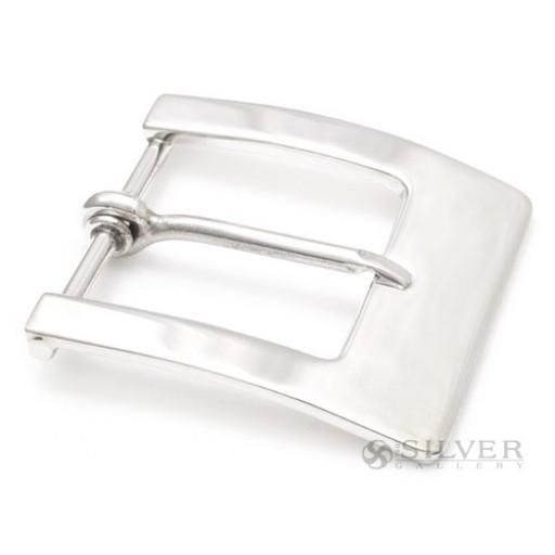 Sterling Silver Plain Harness Belt Buckle