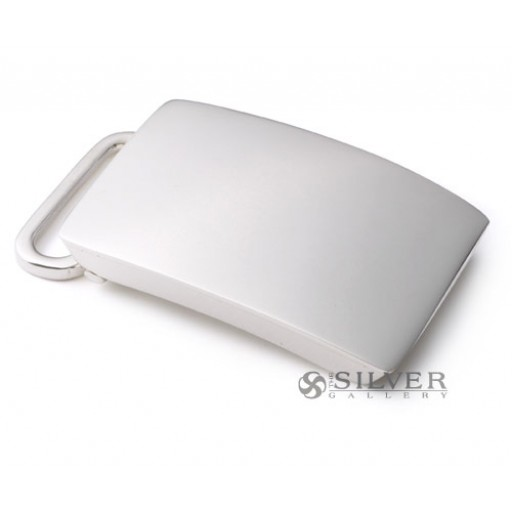 Sterling Silver Polished Plain Belt Buckle
