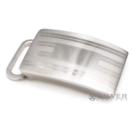 Sterling Silver Engine Turned Belt Buckle