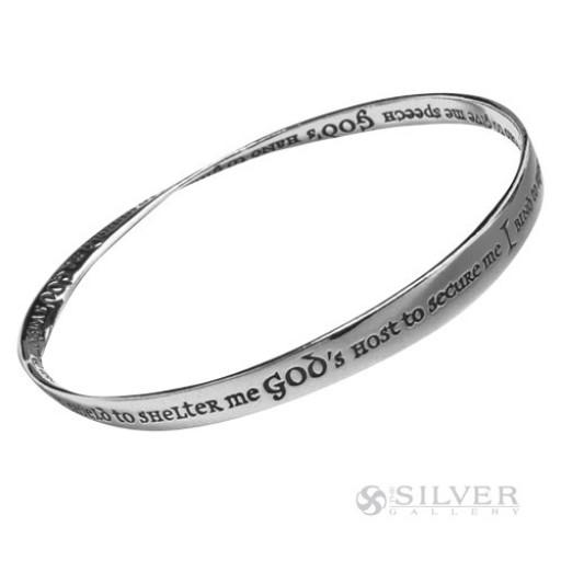 Sterling Silver Mobius Bracelet - St. Patrick's Prayer