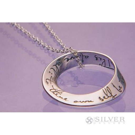 Sterling Silver Mobius Necklace - To Thine Own Self Be True