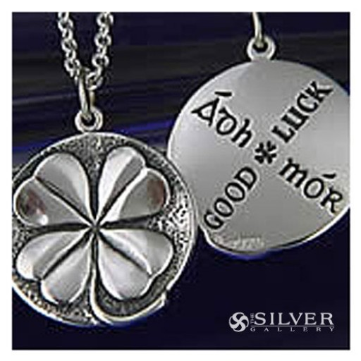 Sterling Silver Good Luck Necklace - Four Leaf Clover