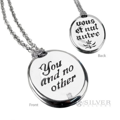 Sterling silver quote necklace you and no other aloadofball Gallery