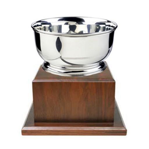 "Salisbury Images of America Trophy Bowl w/Wood Base - 5.5"""