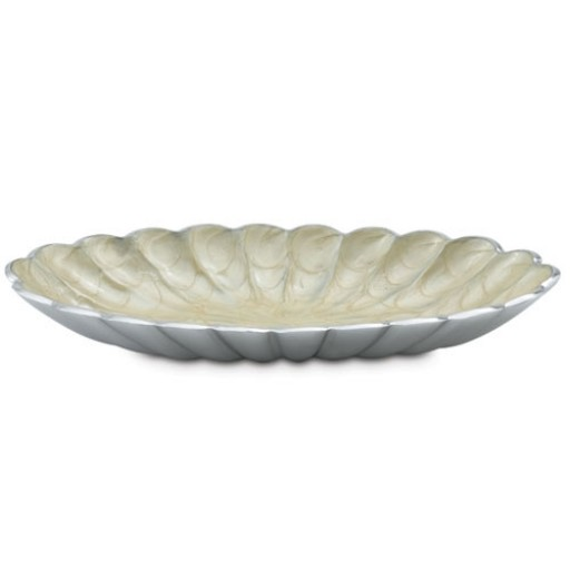 "Julia Knight Peony 16"" Oval Bowl - Buttercream"