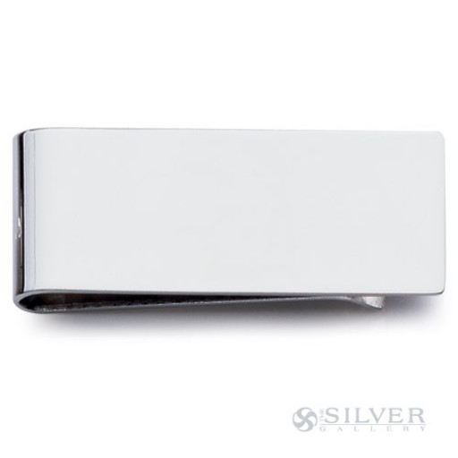 Small Plain Sterling Silver Money Clip