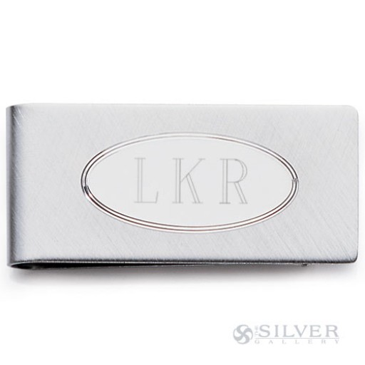 Sterling Silver Money Clip - Oval Bevel