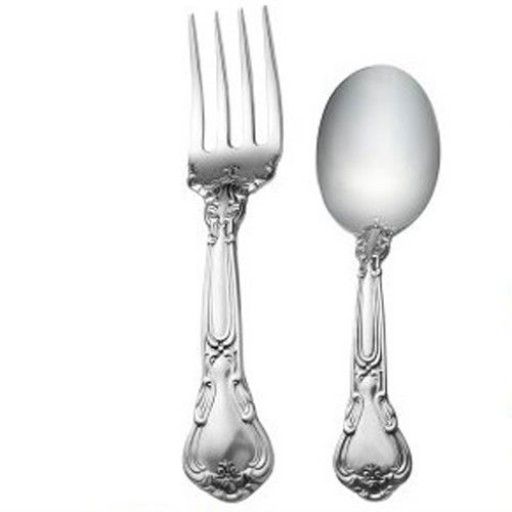 Gorham Sterling Chantilly Baby Fork & Spoon Set