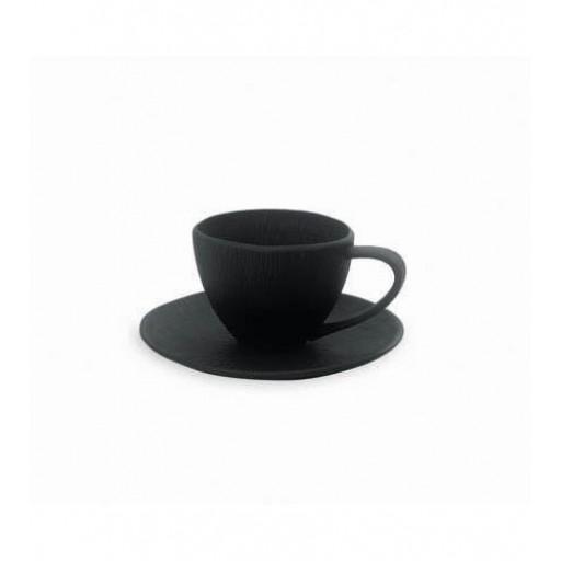 Michael Aram - Africana Porcelain Cup & Saucer Set - Black Matte Porcelain