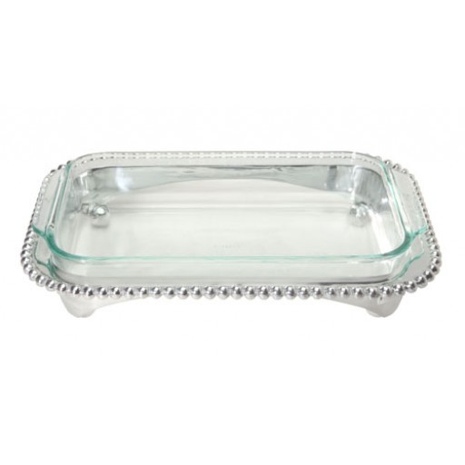 Mariposa String of Pearls Oblong Casserole Stand