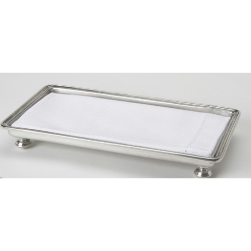 Match Pewter Classic Footed Guest Towel Tray
