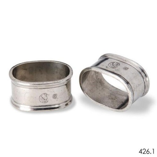 Match Pewter Oval Napkin Ring - Pair