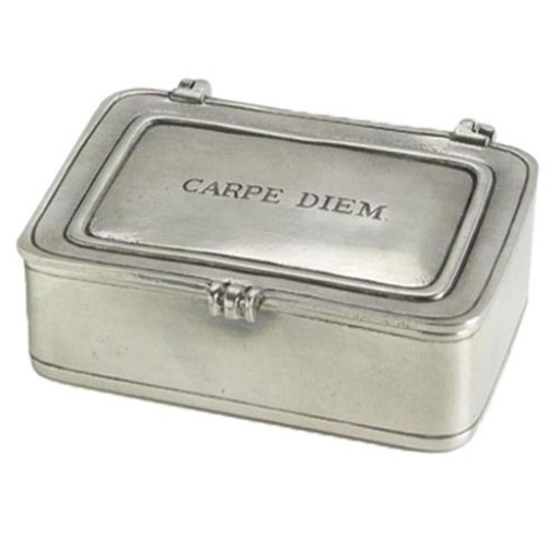 "Match Pewter ""Carpe Diem"" Box - Large"