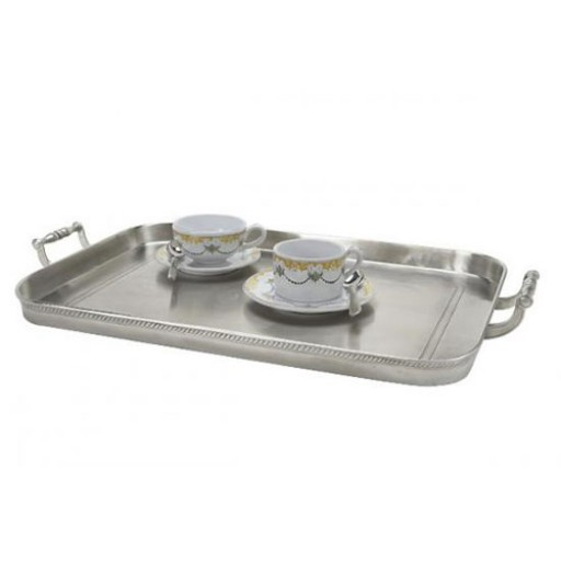 Match Pewter Gallery Tray with Handles