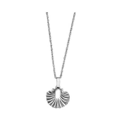 silver necklace pendant sterling amazon shell quot com large scallop dp
