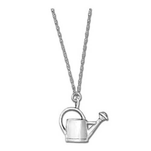 "Watering Can Pendant Necklace w/18"" Chain"