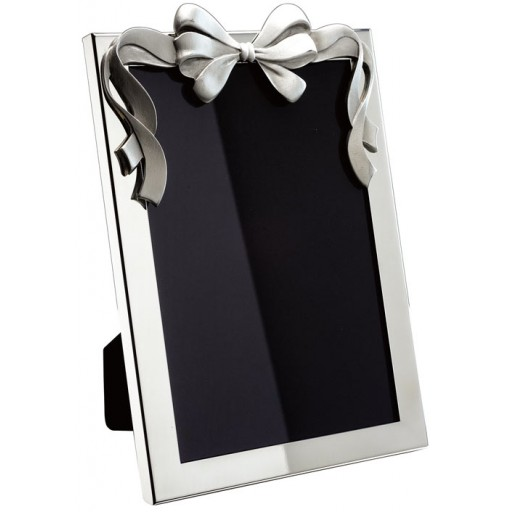 Pewter Bow Picture Frame