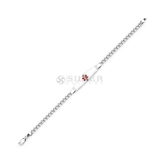 Sterling Silver Classic Medical ID Bracelet - 8 IN