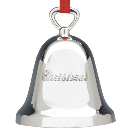 Reed And Barton Christmas Bell Ornament Silver Plate
