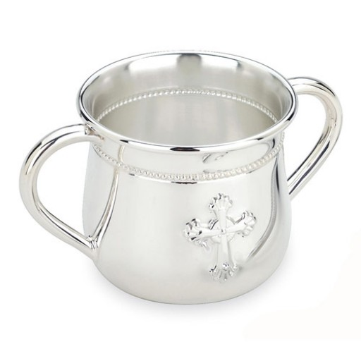 Reed and Barton Abbey Cross Double Handle Baby Cup