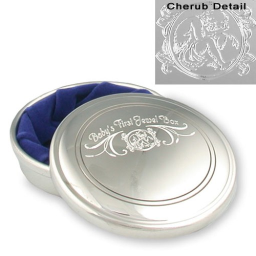 Salisbury Pewter 1st Jewel Box with Light Blue Liner