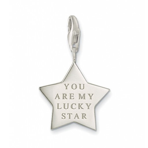 Lucky Star Charm - Sterling Silver