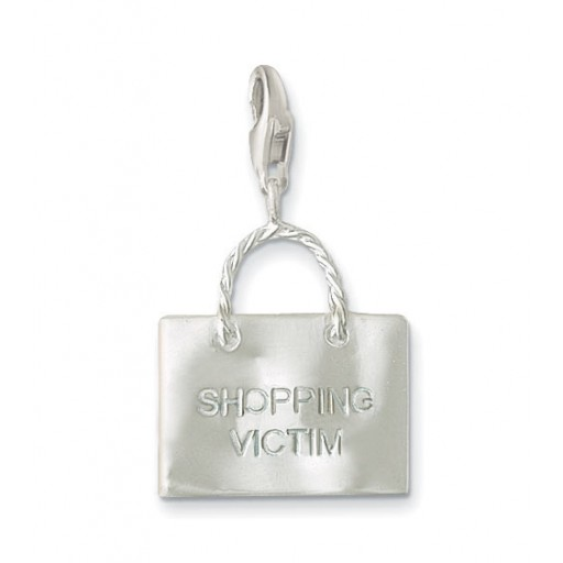 Shopping Bag Charm - Sterling Silver