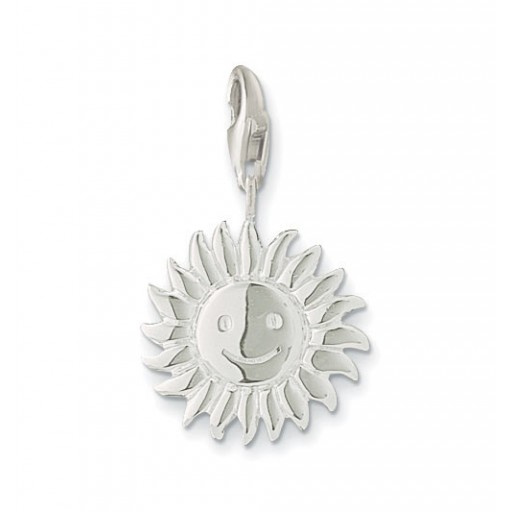 Sun Charm - Sterling Silver