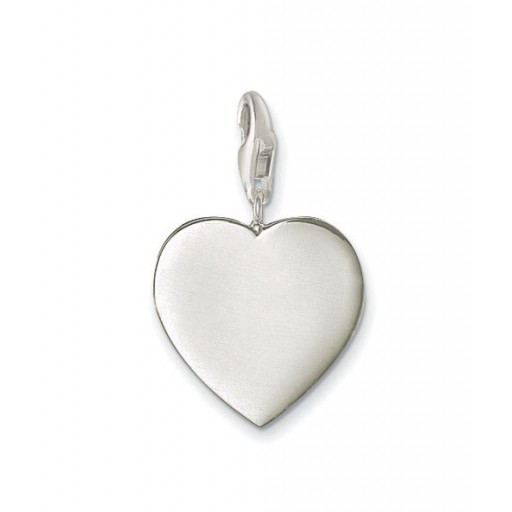 Classic Heart Charm - Sterling Silver
