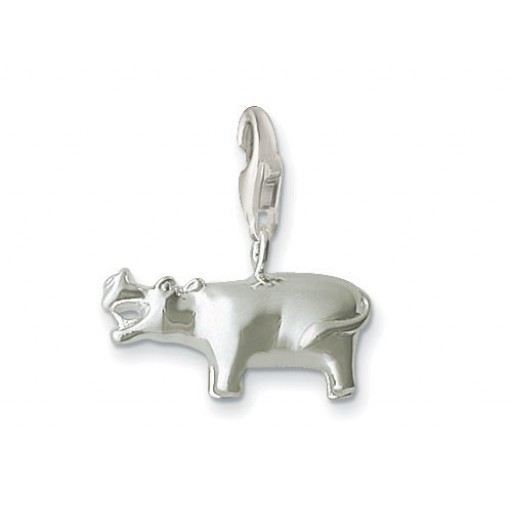 Hippo Charm - Sterling Silver