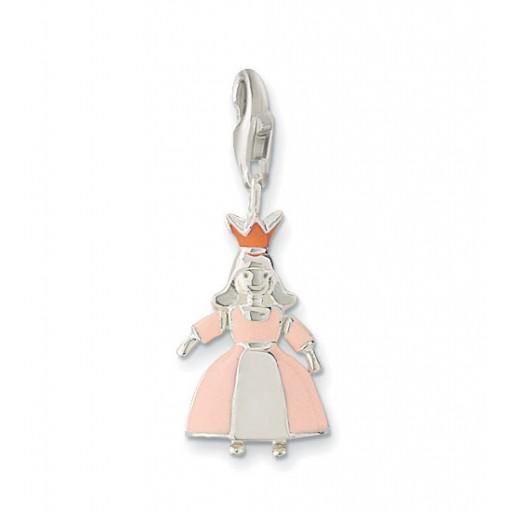Princess Charm - Enamel & Sterling Silver