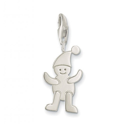 Jumping Jack Charm - Sterling Silver