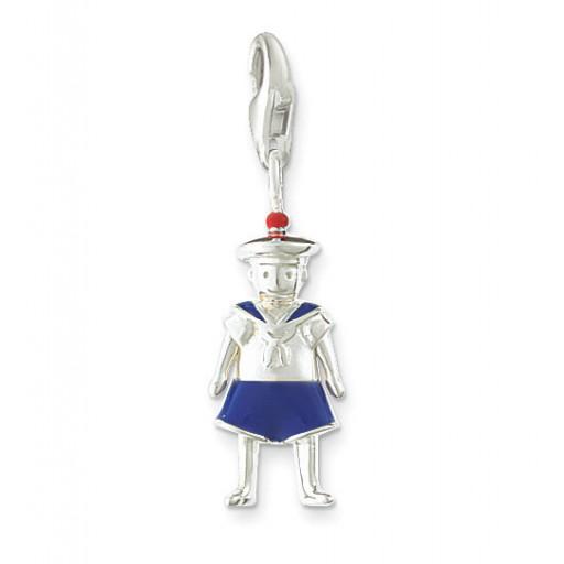 Seaman Charm - Blue Enamel & Sterling Silver